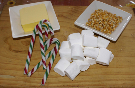 Gluten Free Candy Cane Popcorn Ingredients