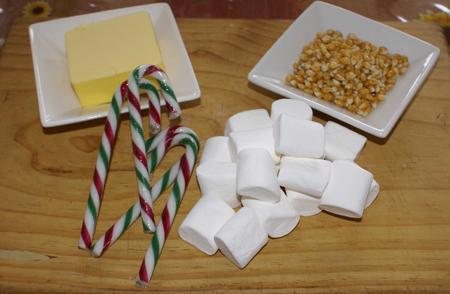 Gluten Free Candy Cane Popcorn Ingredients