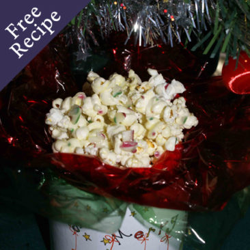 Gluten Free Christmas Candy Cane Popcorn