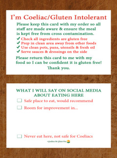 Easy Eat Out Cards