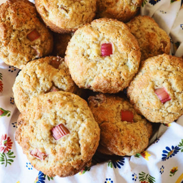 Gluten Free Rhubarb Ginger Muffins